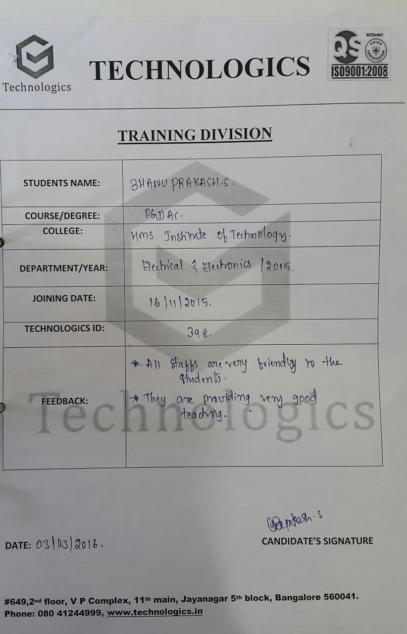 HMS Institute Of Technology_Student Reviews