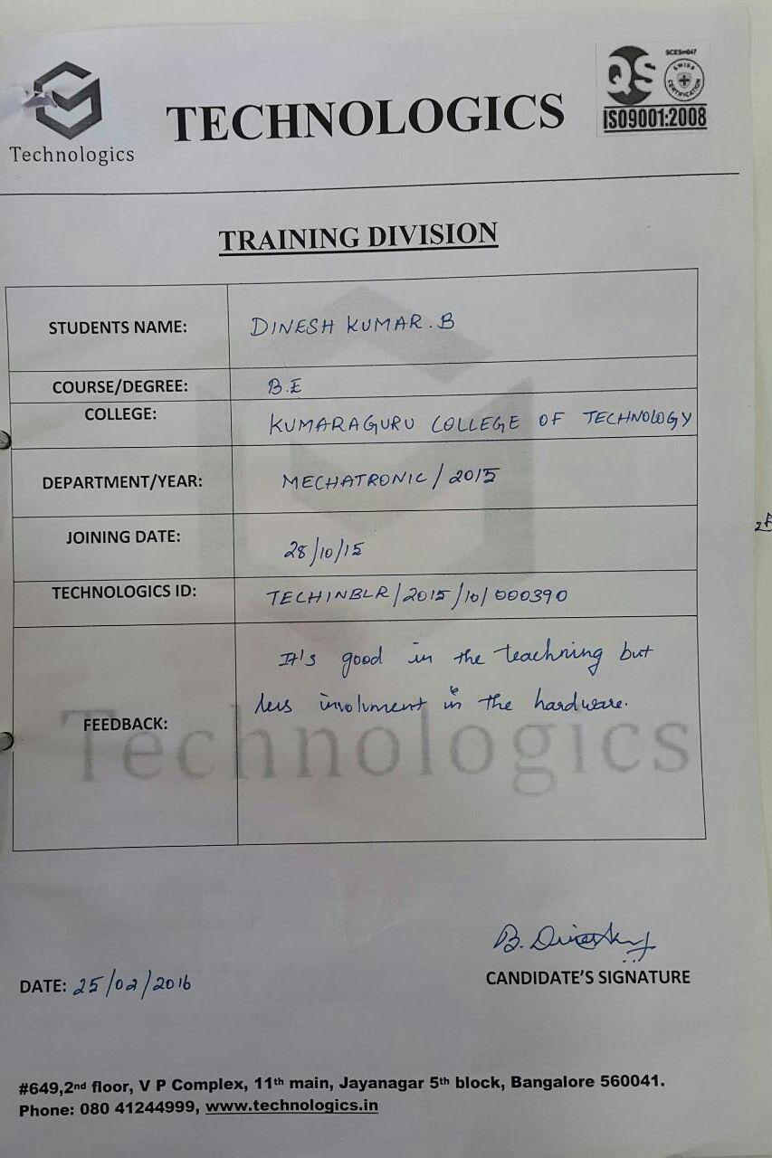 Kumara guru College Of Engineering_student Review