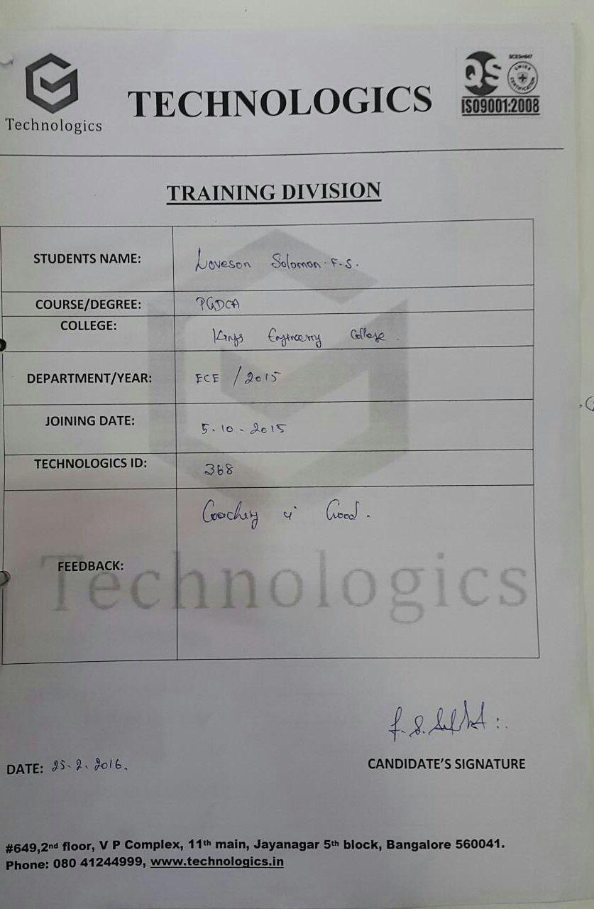 kings Engineering college_student Reviews
