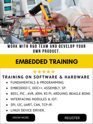EMBEDDED SYSTEM TRAINING IN BANGALORE